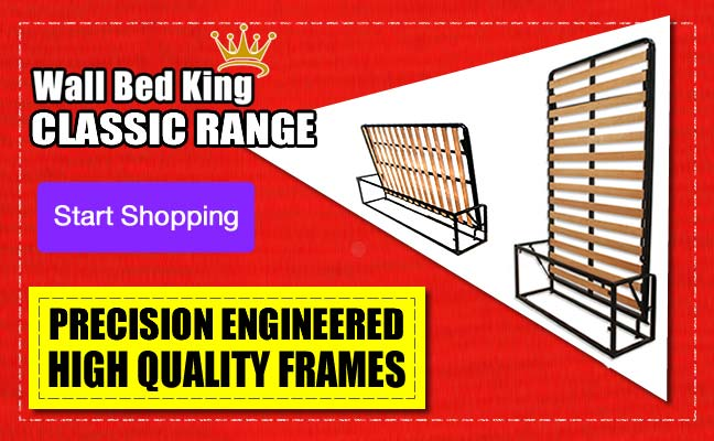 Start shopping for Wall Bed King Classic Range, high quality precision engineered quality frames