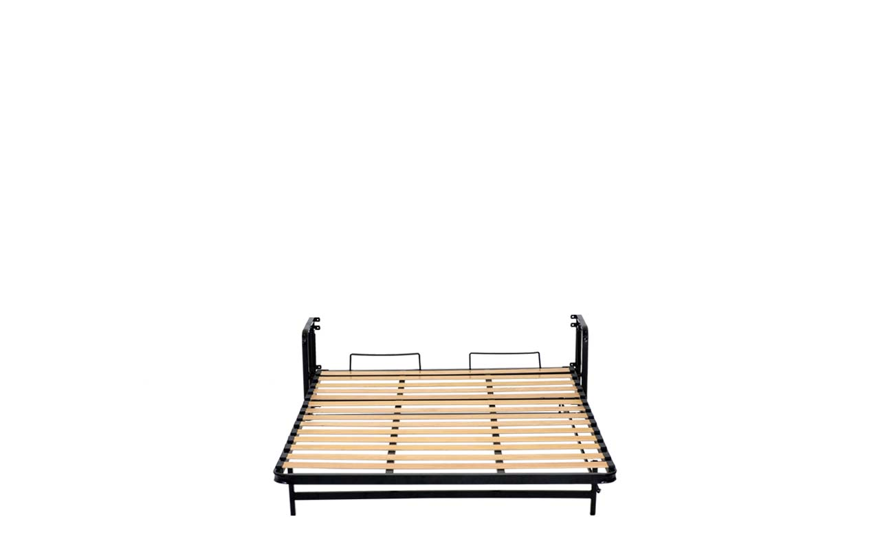 Small double european vertical wall bed frame 7