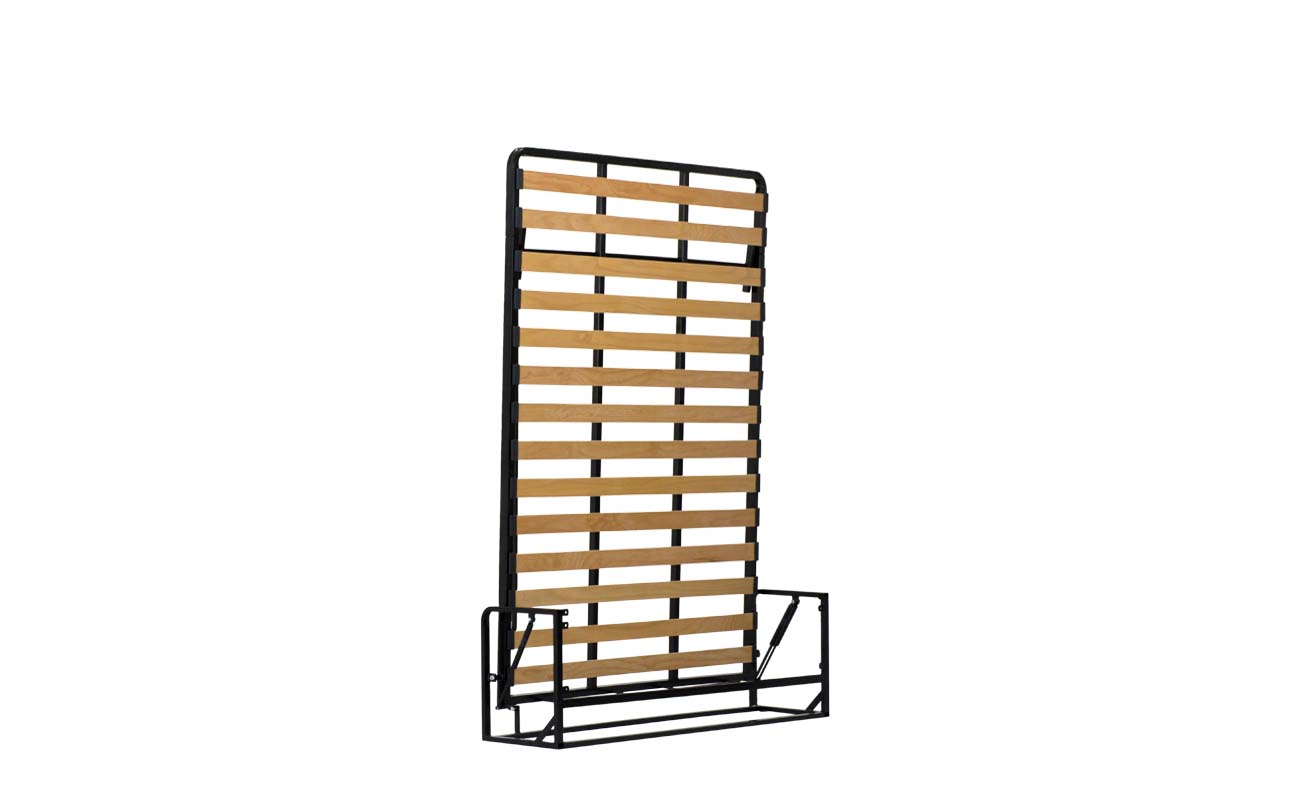 Double european vertical wall bed frame 4