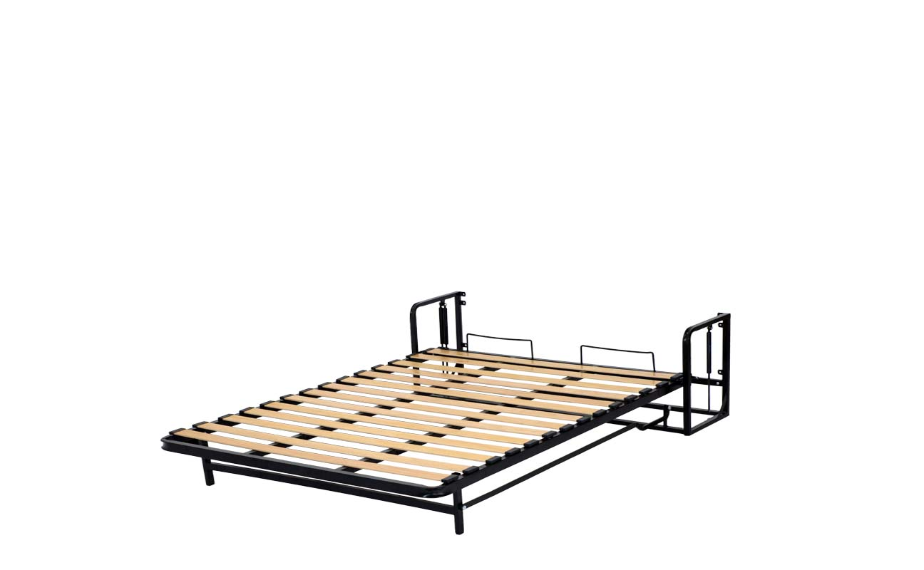 Double european vertical wall bed frame 10