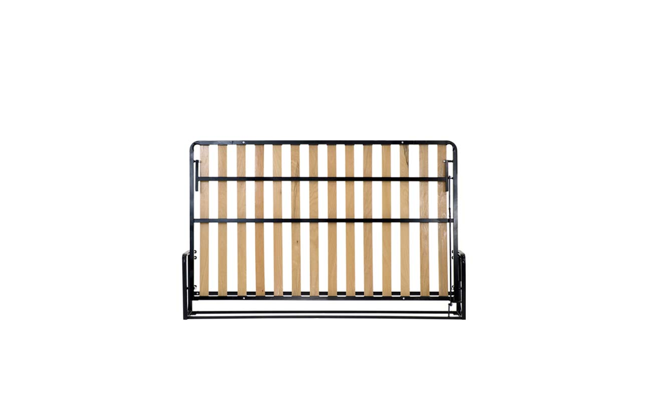 Small double horizontal wall bed frame 1