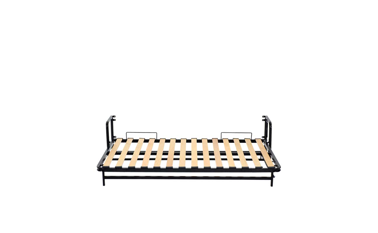 Small double horizontal wall bed frame 8