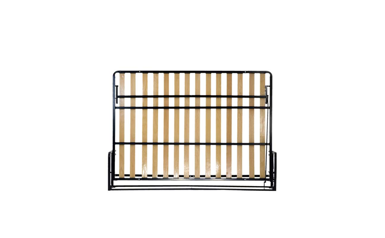 Double horizontal wall bed frame 1