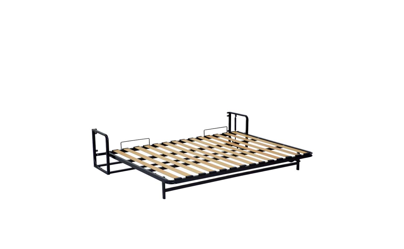 Double horizontal wall bed frame 9