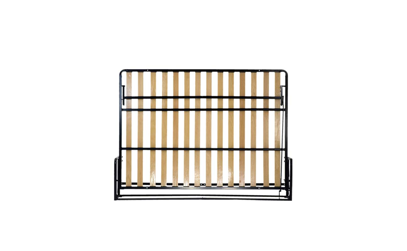 Small double european horizontal wall bed frame 1