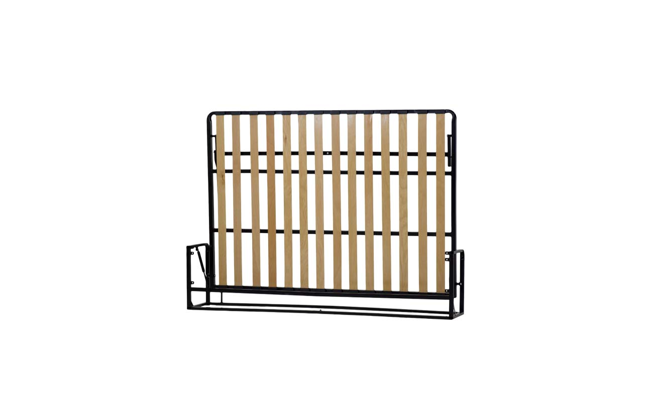 Small double european horizontal wall bed frame 4