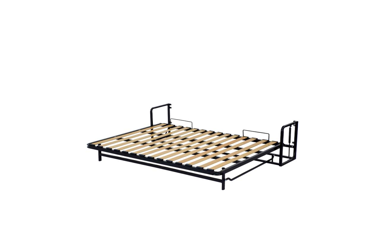 Small double european horizontal wall bed frame 9