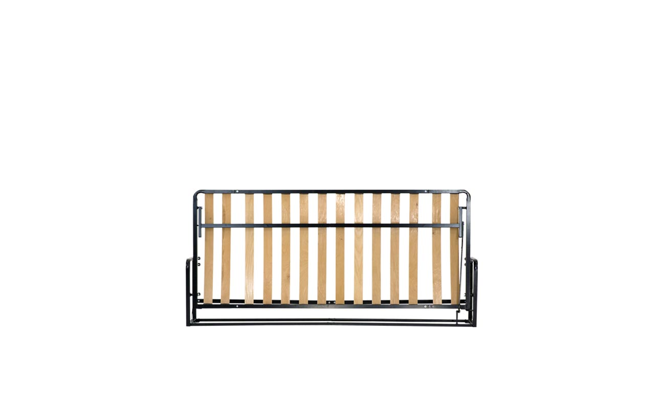 Single horizontal wall bed frame 1