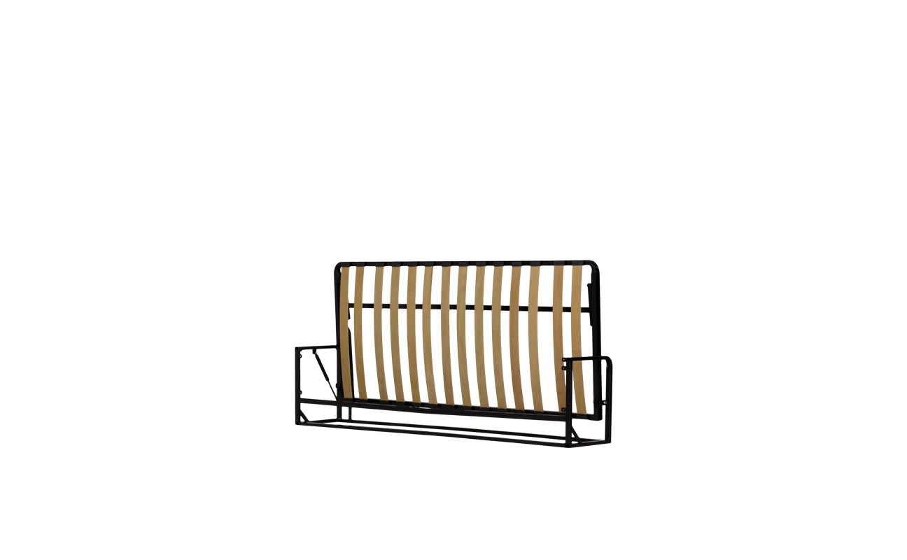 Single horizontal wall bed frame 3