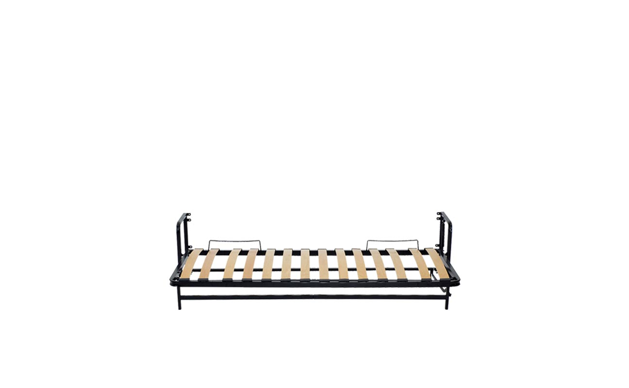 Single horizontal wall bed frame 9