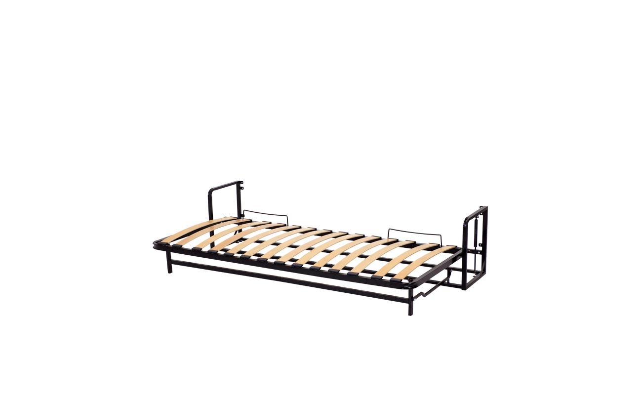 Single horizontal wall bed frame 10