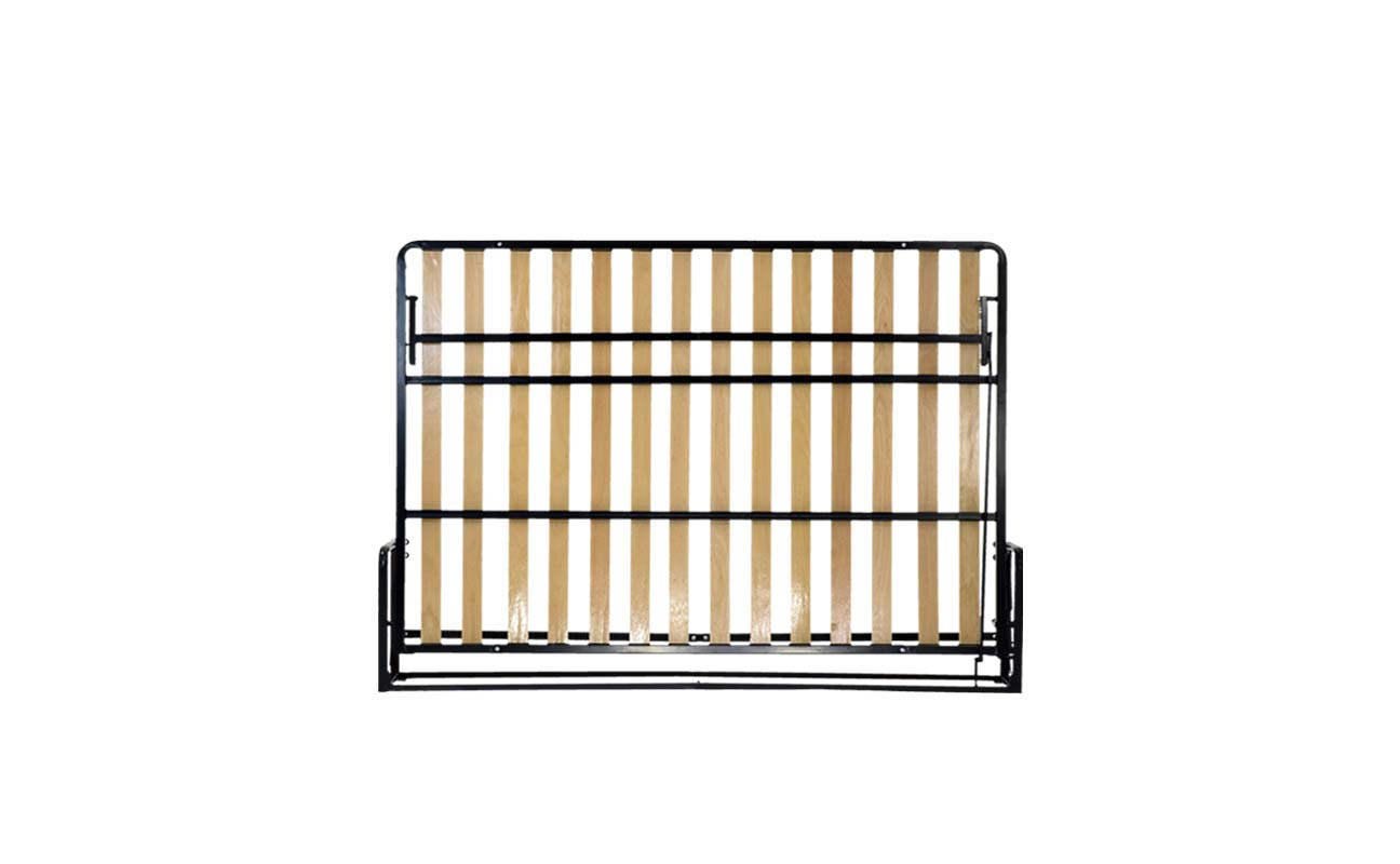 Double european horizontal wall bed frame 1