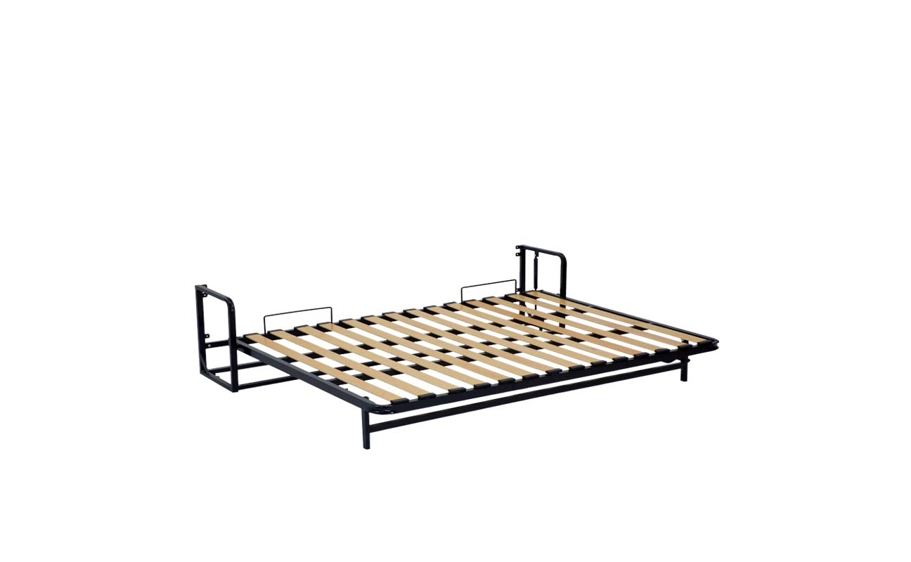 Double european horizontal wall bed frame 8