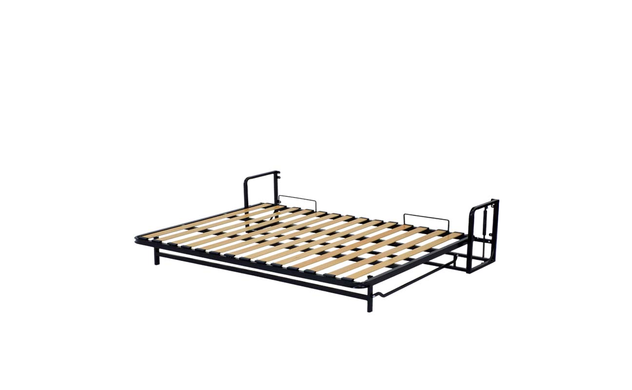 Double european horizontal wall bed frame 9
