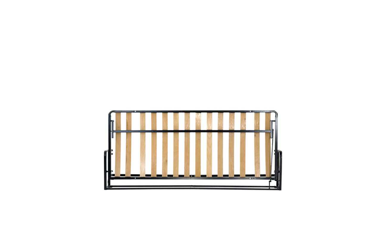Single european horizontal wall bed frame 1
