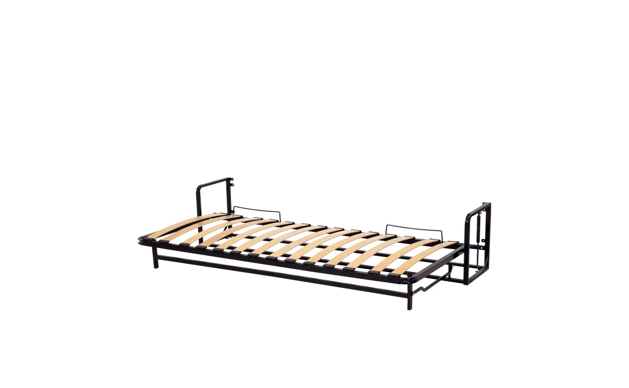 Single european horizontal wall bed frame 8