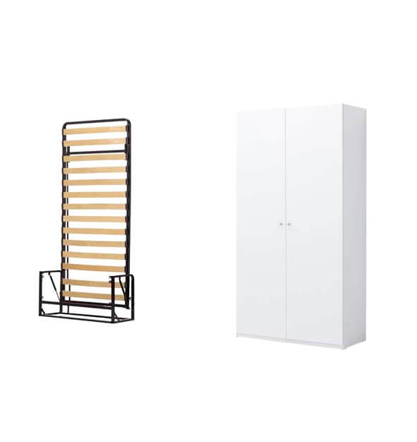 Vertical Classic Bed Plus Cabinet