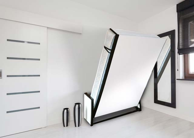 A bed from the Studio Wall Bed Range in a modern room