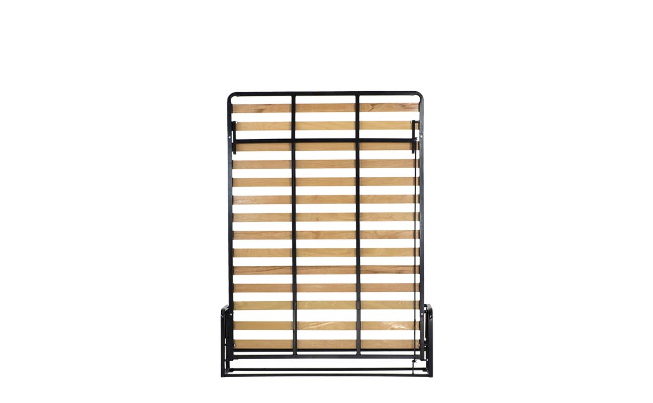 Small double european vertical wall bed frame 1