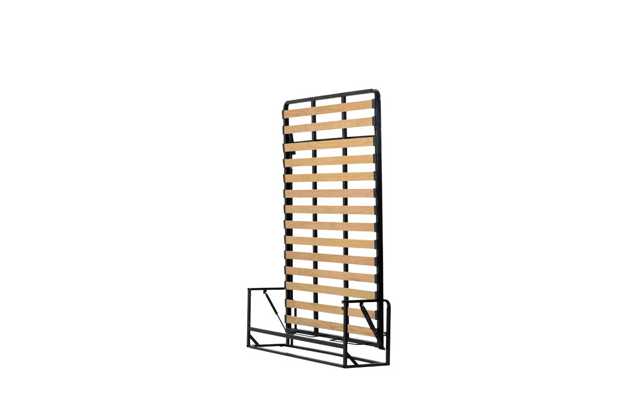 Small double european vertical wall bed frame 2