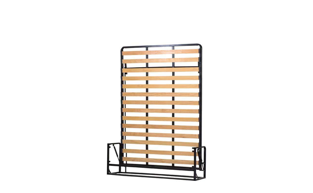 Small double european vertical wall bed frame 3