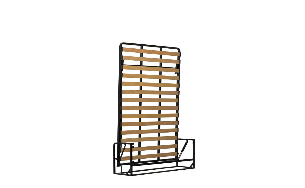 Small double european vertical wall bed frame 4