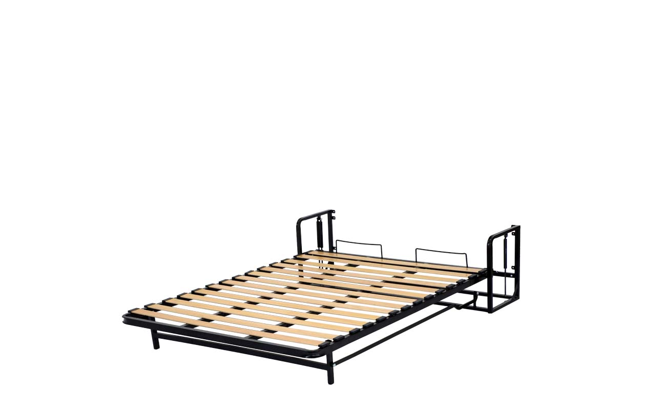 Small double european vertical wall bed frame 9