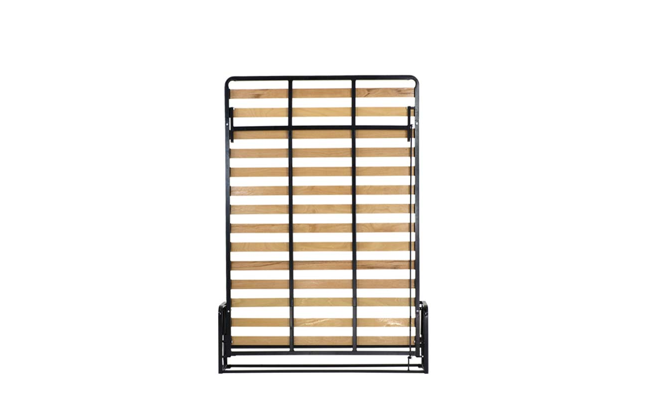 Double european vertical wall bed frame 1