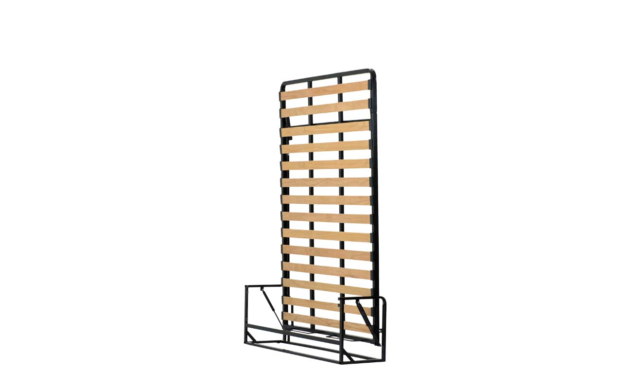 Double european vertical wall bed frame 2