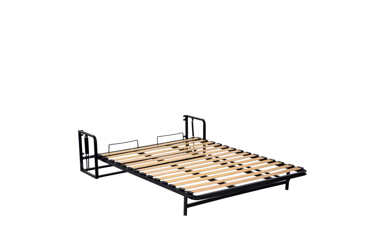 Double european vertical wall bed frame 8
