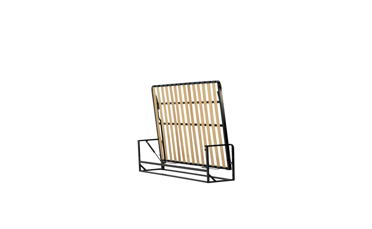 Small double horizontal wall bed frame 2