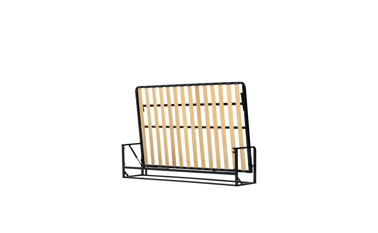 Small double horizontal wall bed frame 3