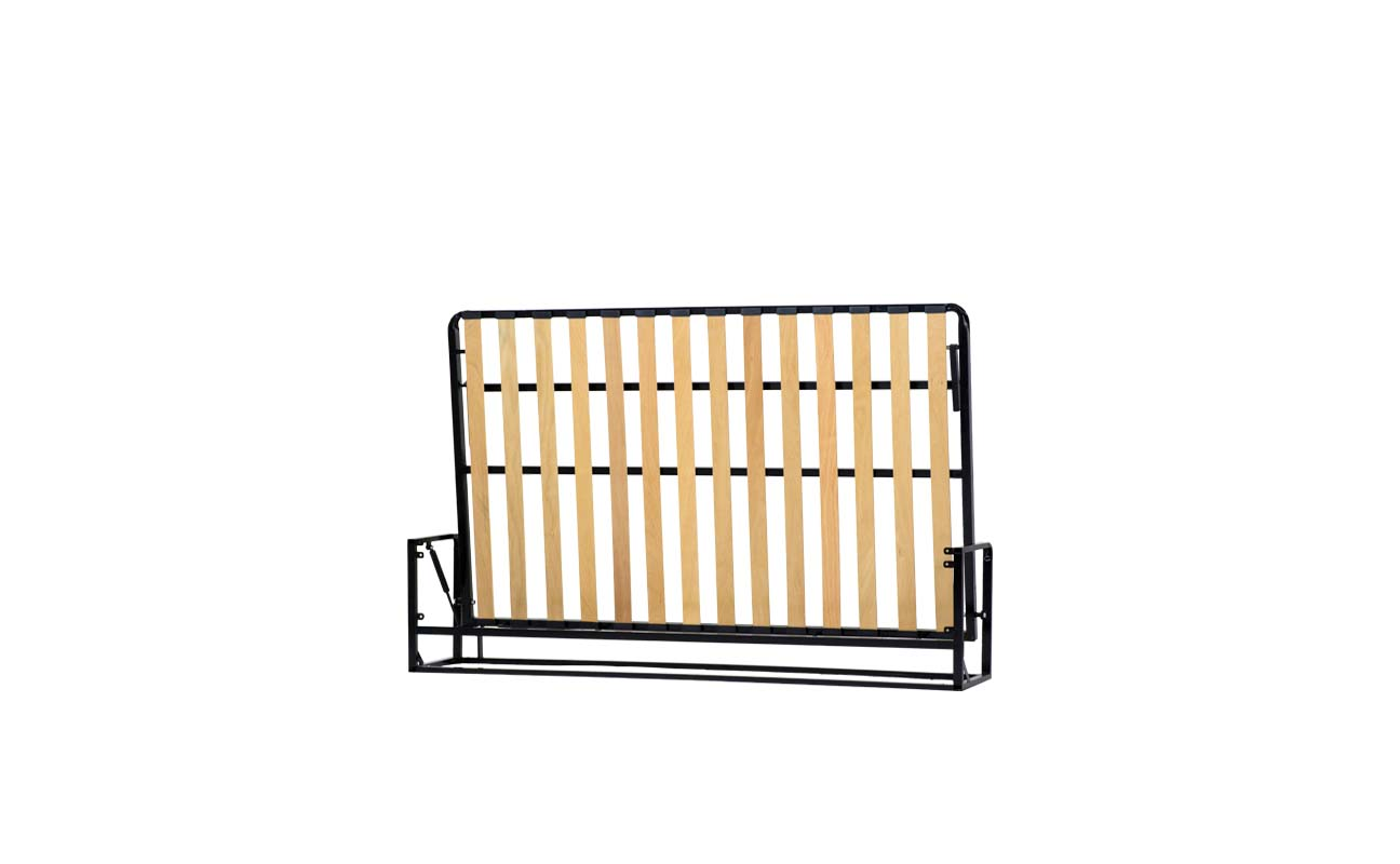 Small double horizontal wall bed frame 4