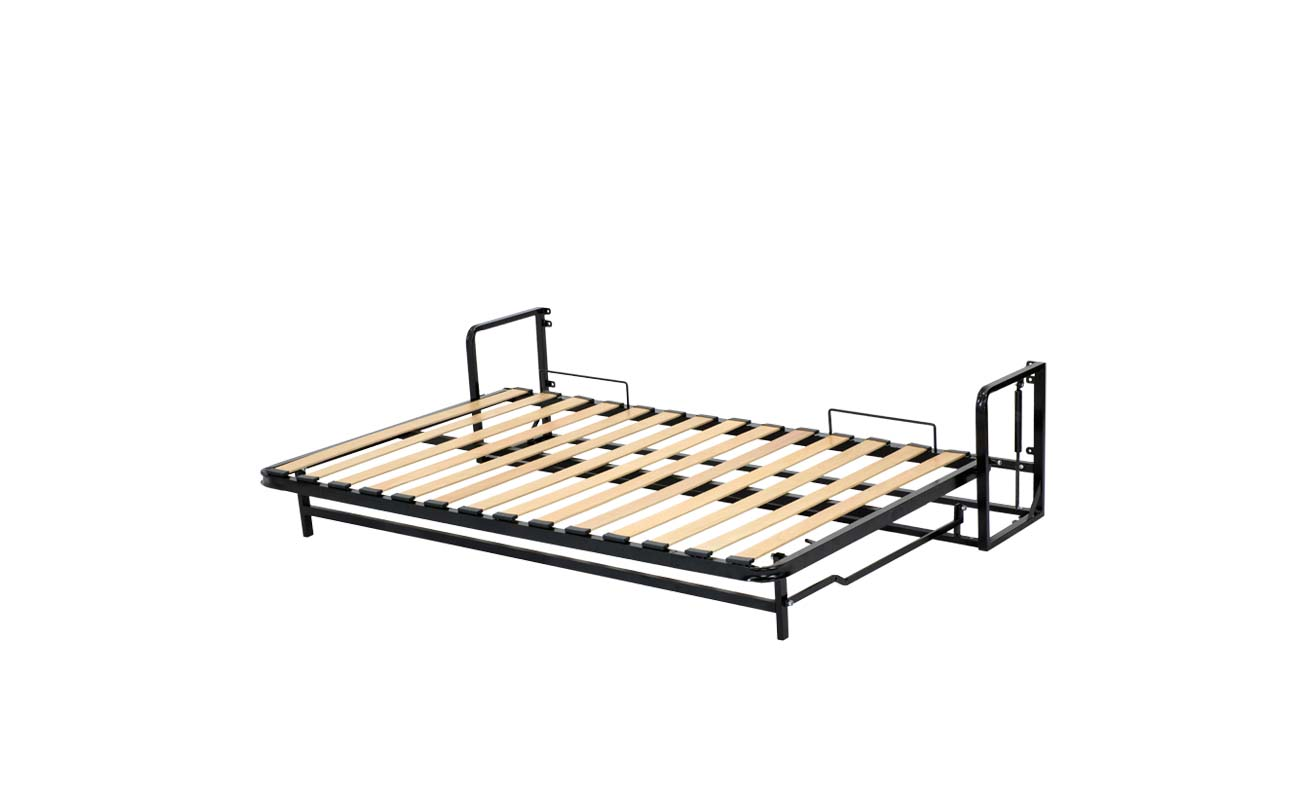 Small double horizontal wall bed frame 9