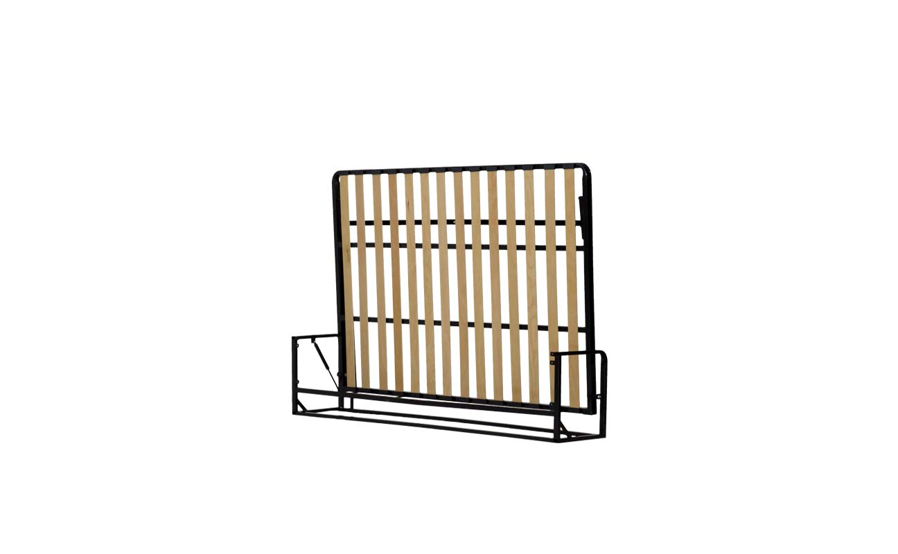 Double horizontal wall bed frame 3
