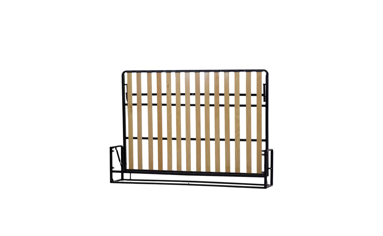 Double horizontal wall bed frame 4