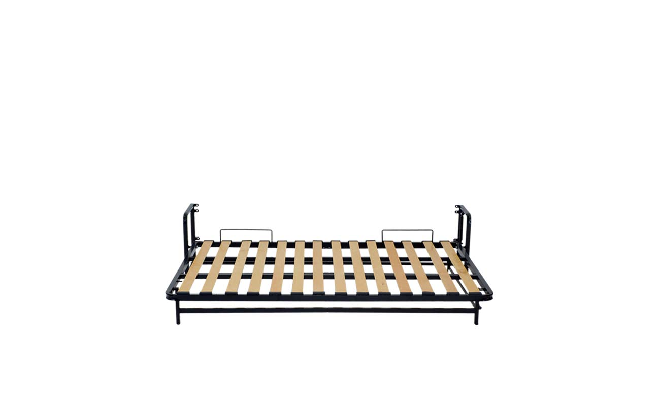 Double horizontal wall bed frame 8