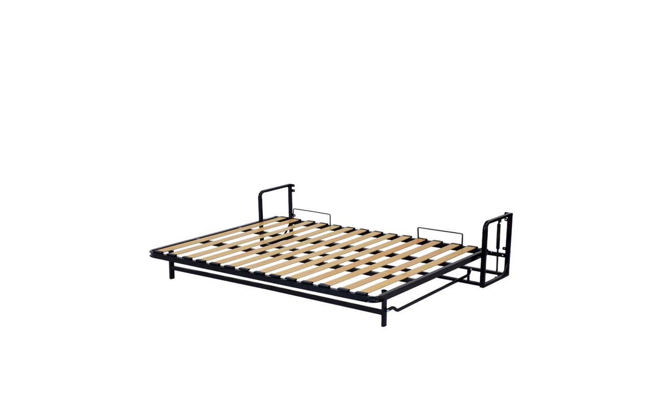 Double horizontal wall bed frame 10
