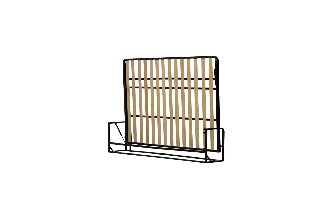 Small double european horizontal wall bed frame 3