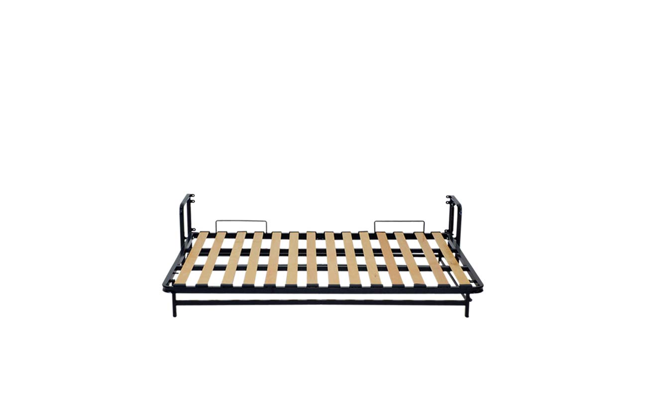 Small double european horizontal wall bed frame 7