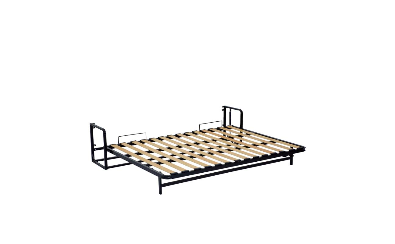 Small double european horizontal wall bed frame 8