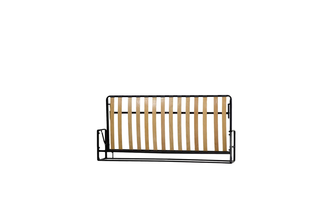 Single horizontal wall bed frame 4