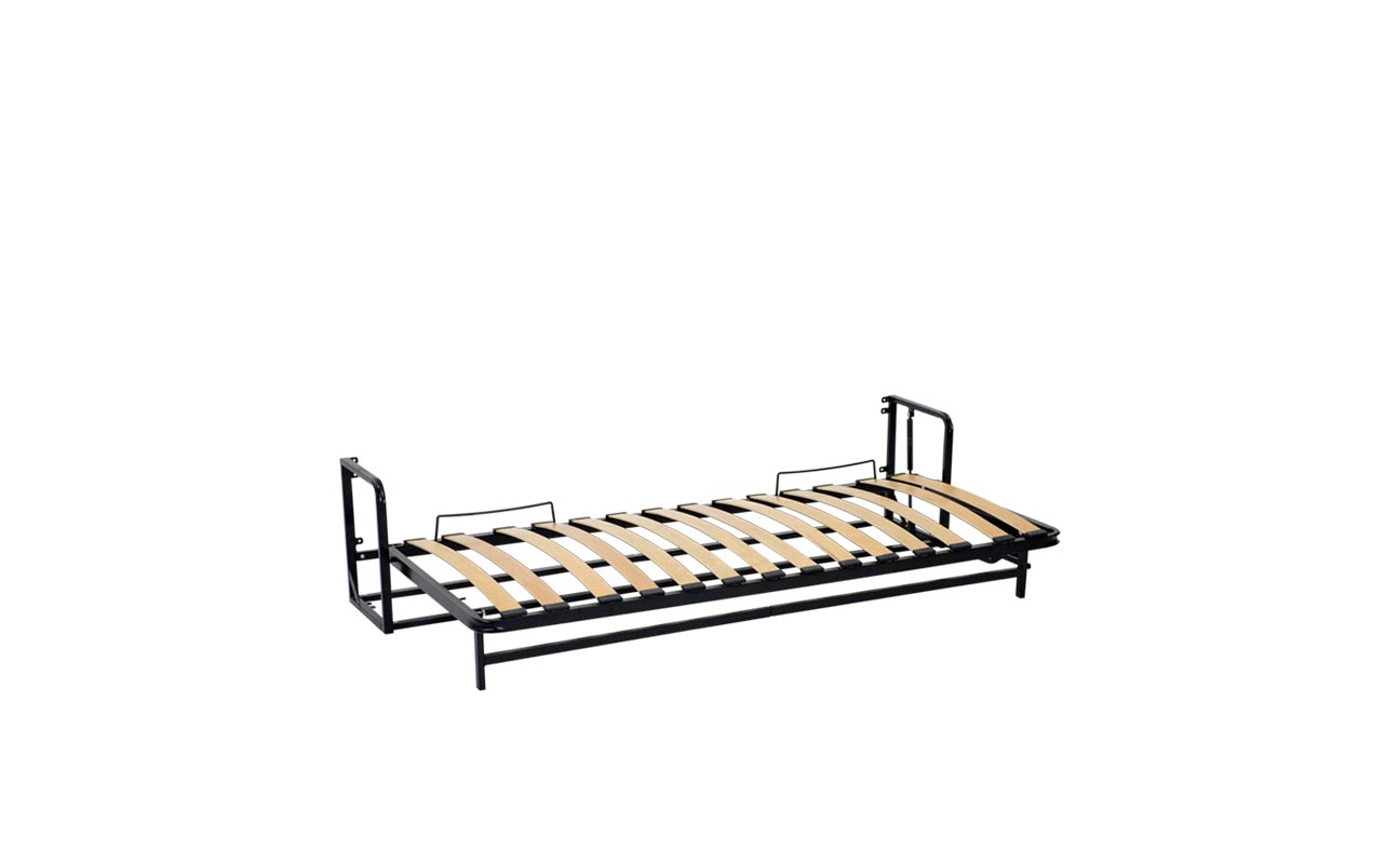 Single horizontal wall bed frame 11