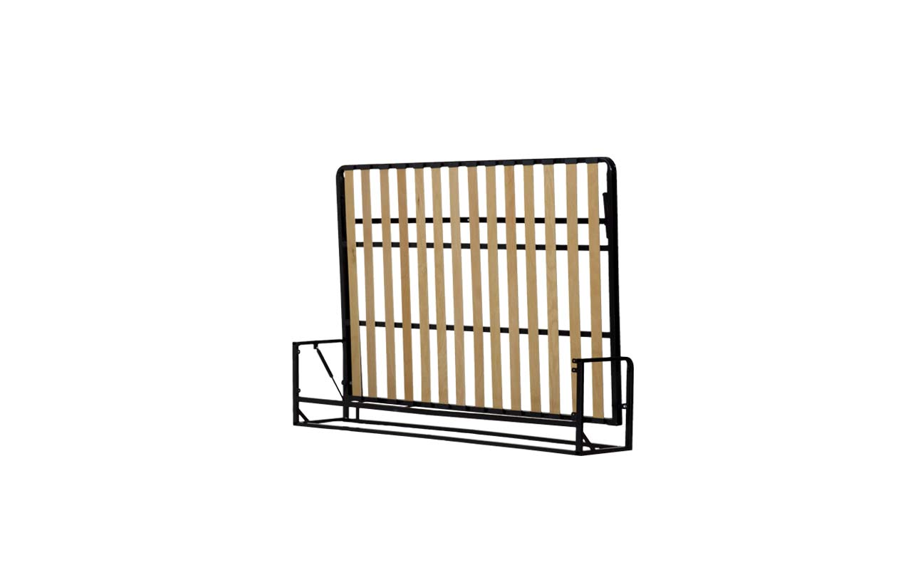 Double european horizontal wall bed frame 3
