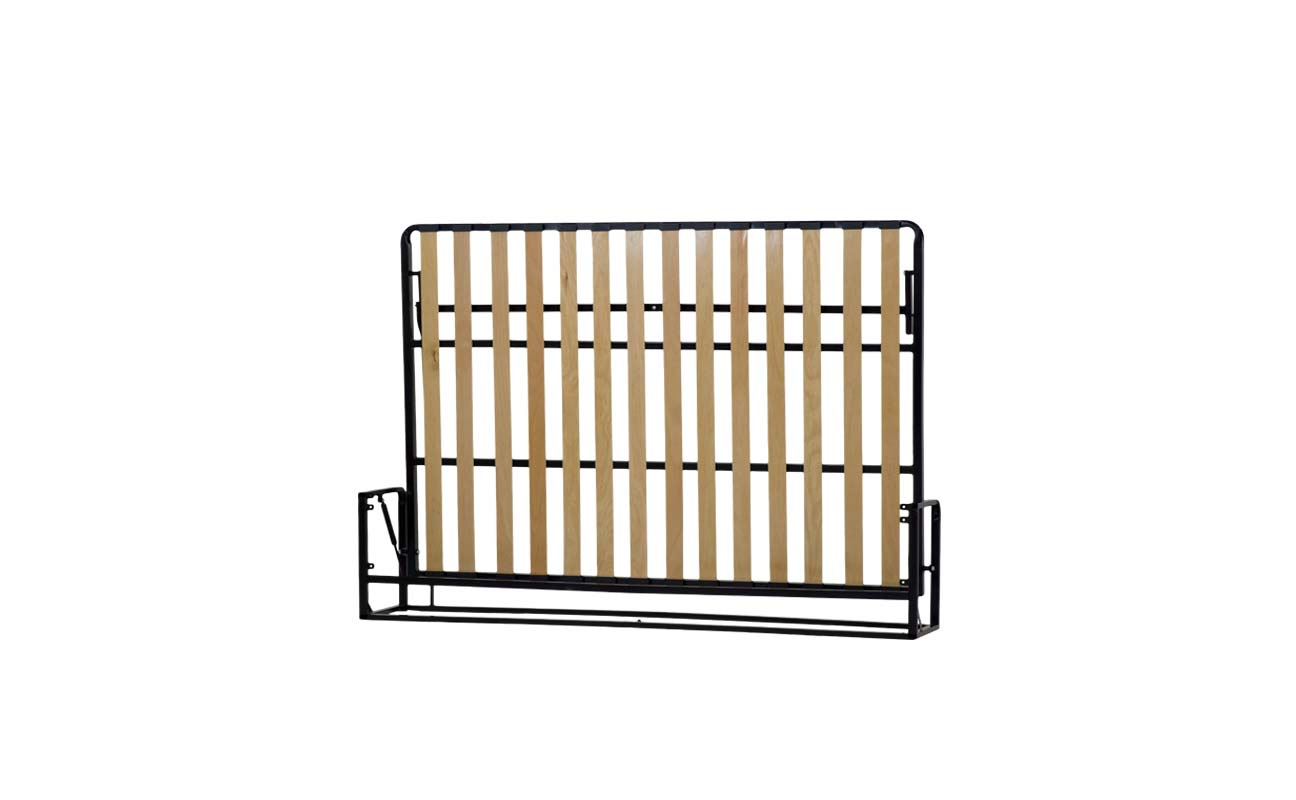 Double european horizontal wall bed frame 4