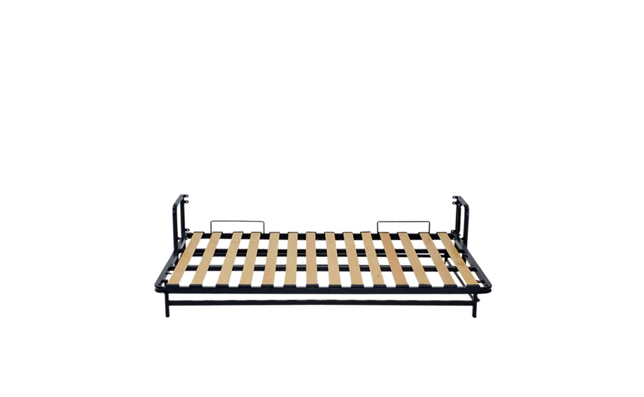 Double european horizontal wall bed frame 7