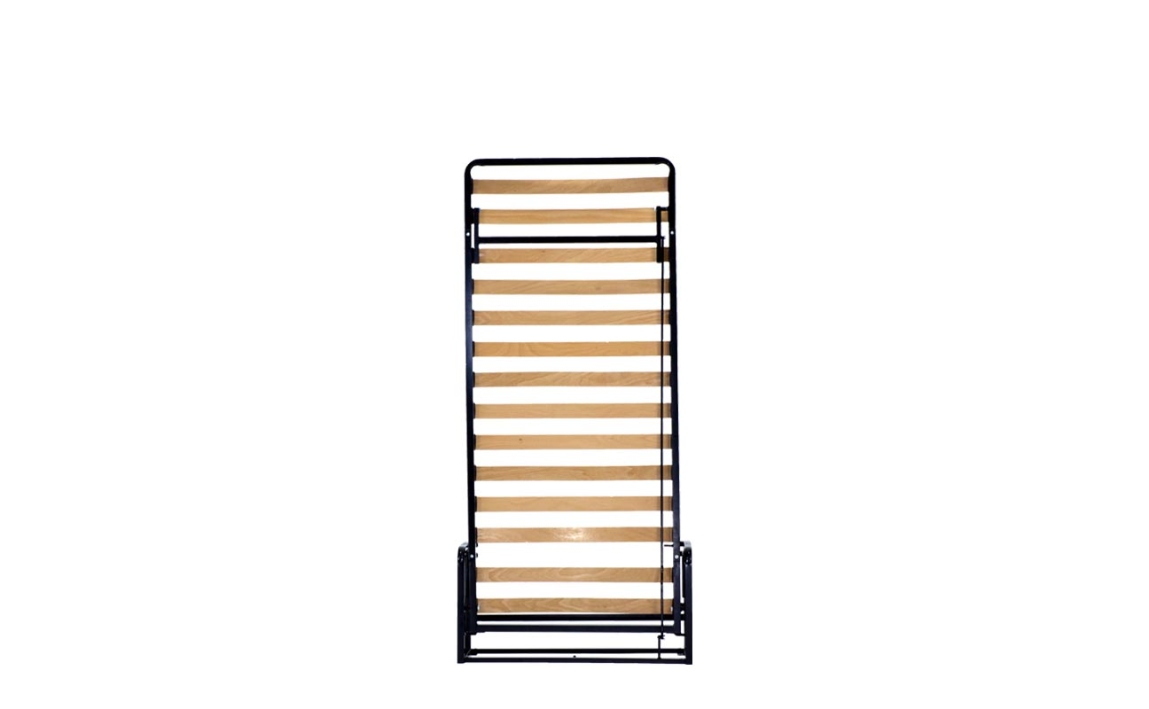Single vertical wall bed frame 1