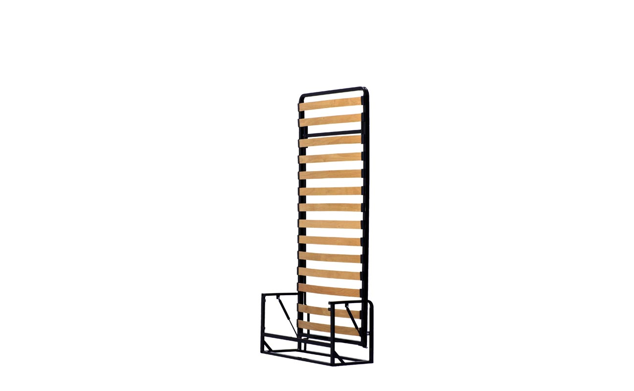 Single vertical wall bed frame 2