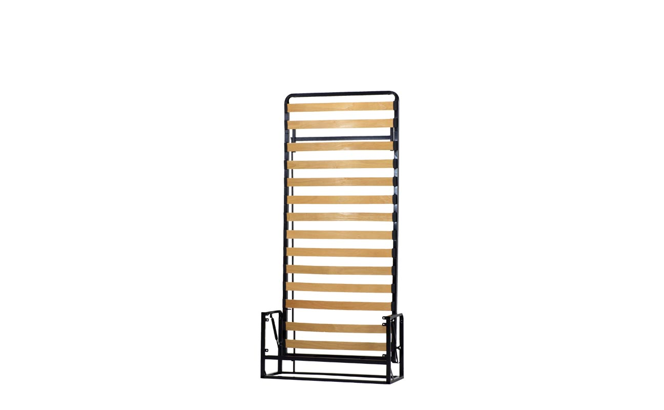 Single vertical wall bed frame 4