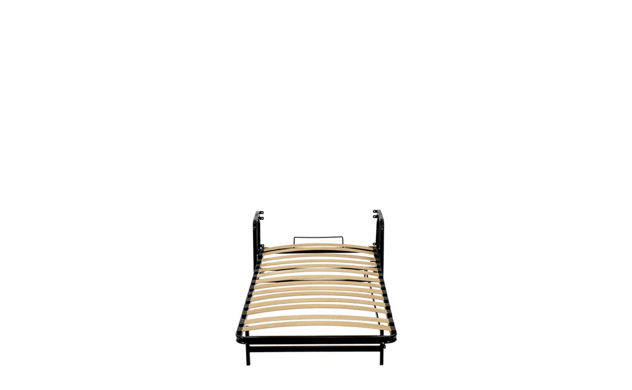 Single vertical wall bed frame 8